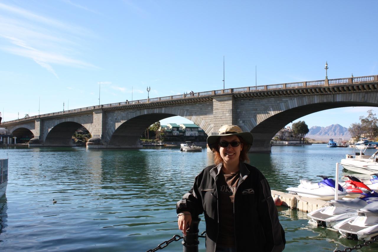 Brenda in front of London Bridge