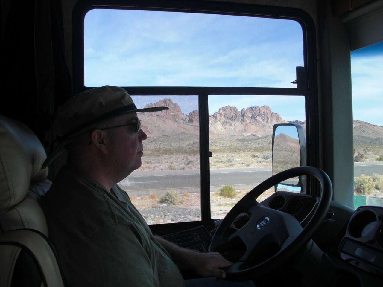 David driving to Kingman, AZ