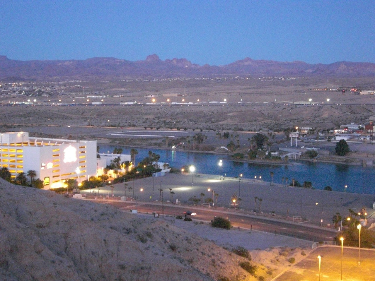 Another Angle Of Our View On The Bluff Overlooking The River Palms Casino