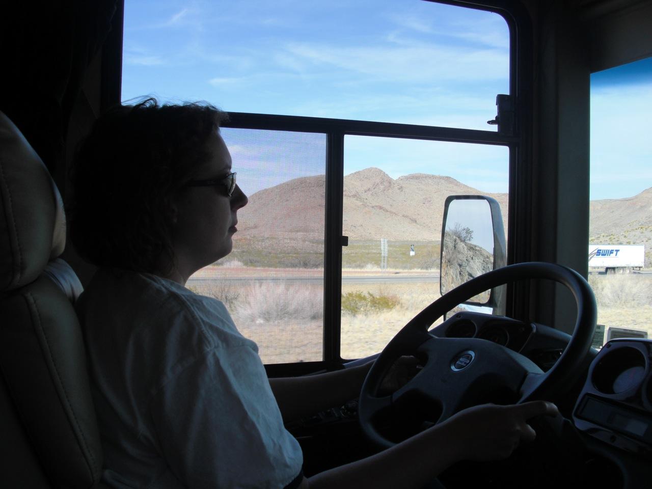 Brenda Driving Into Texas