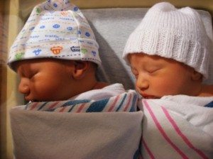 Noah on Left and Aaron on Right (in white hat)
