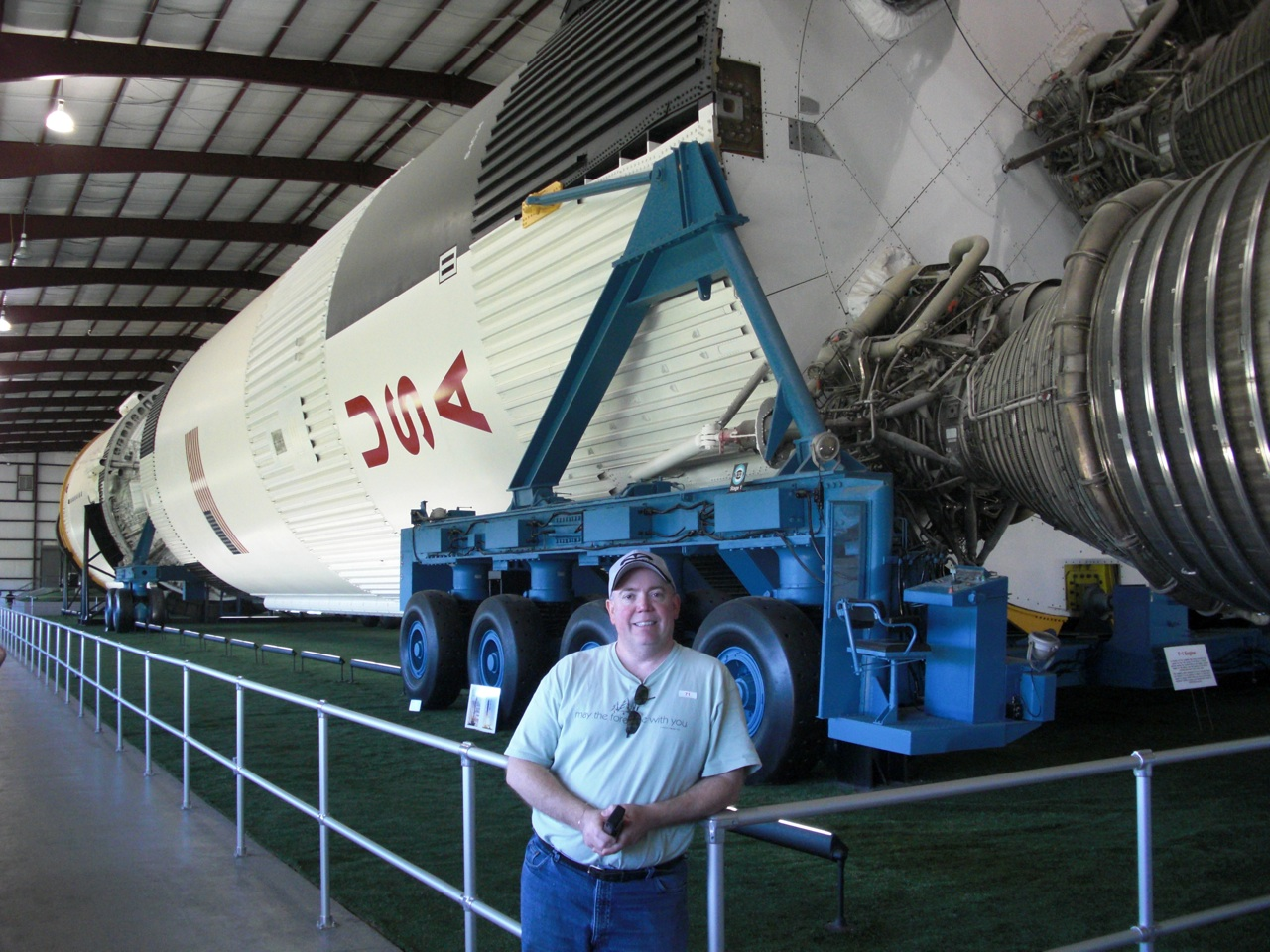 David and Another View of the Saturn Rocket