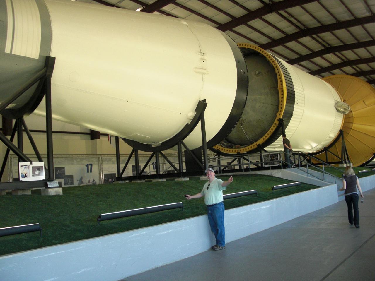 David Next To The Saturn Rocket