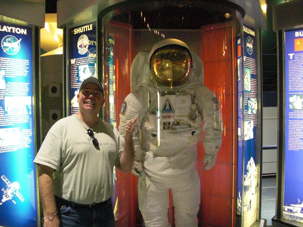 David and a Space Suit