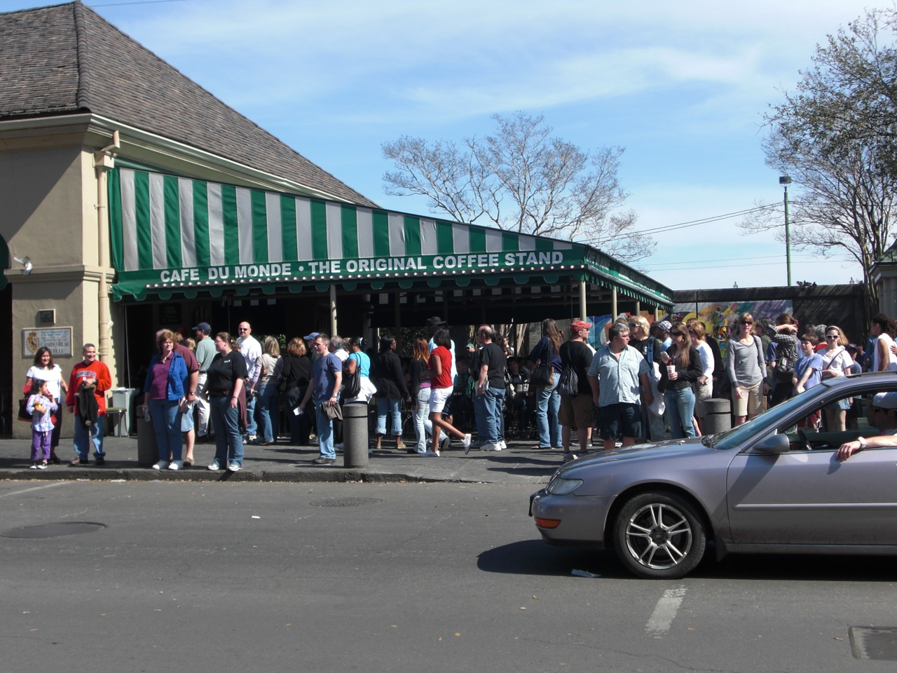 Cafe Du Monde. Yes, That Is The Line. No We Did Not Wait.