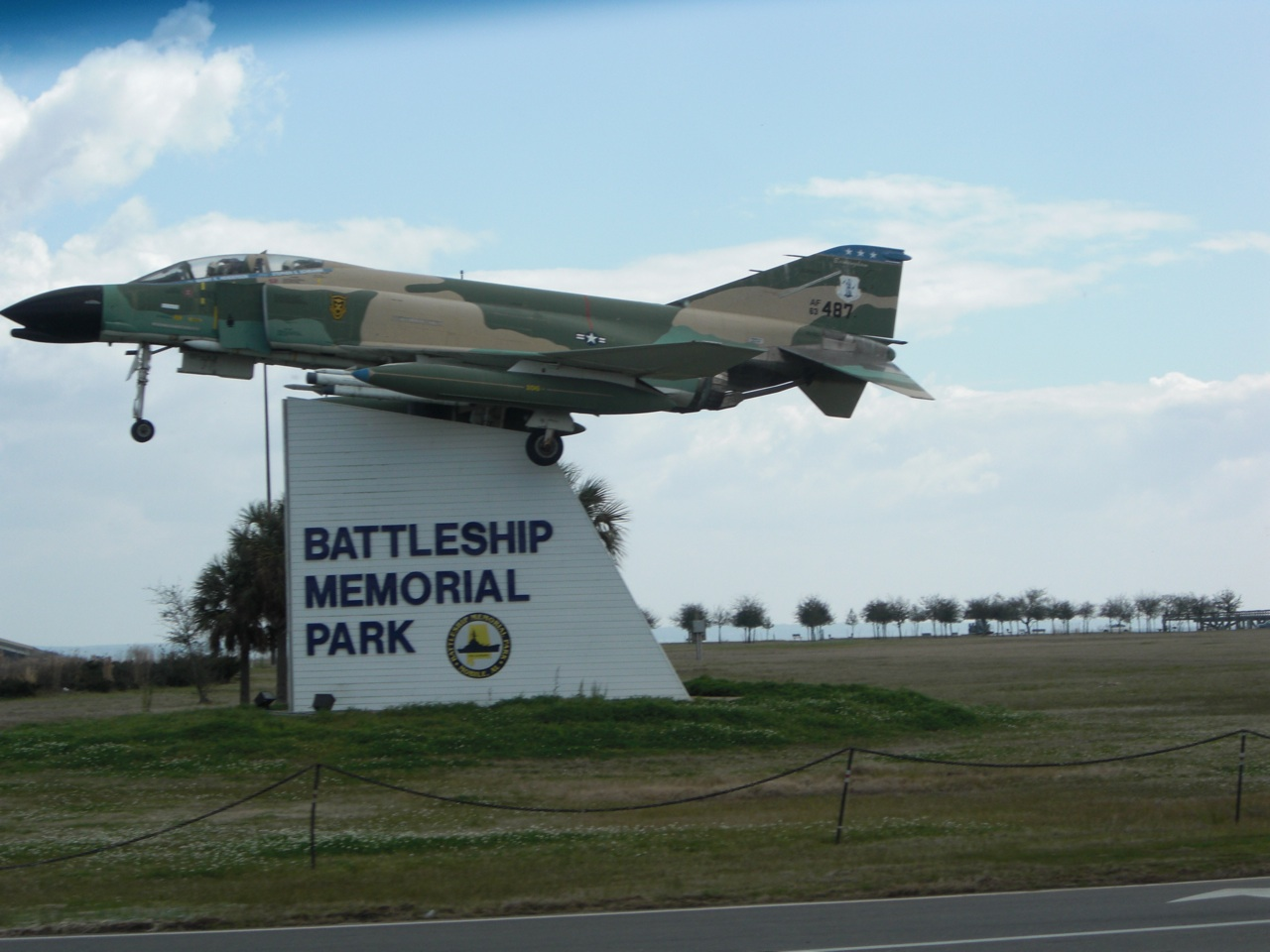 The Entrance To Battleship Memorial Park in Mobile, Alabama
