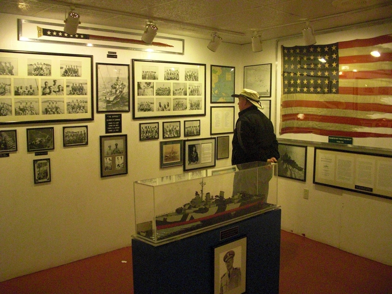 Inside One Of The Rooms Aboard The USS Alabama