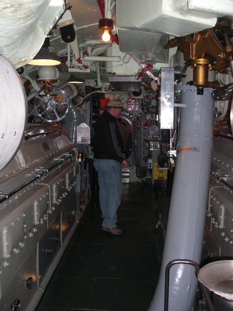 David Walking Through USS Drum