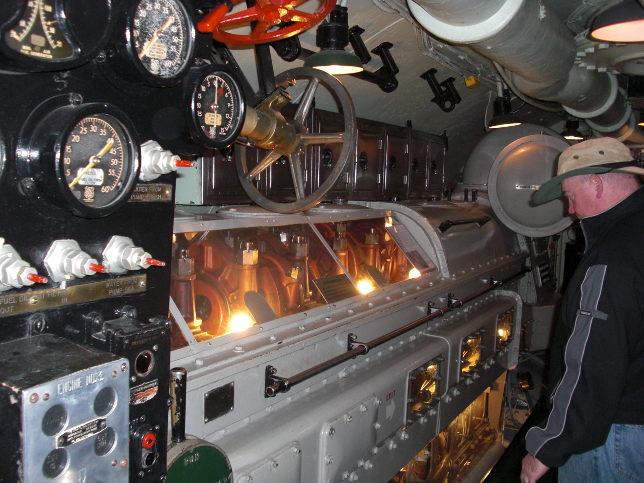 Inside of USS Drum