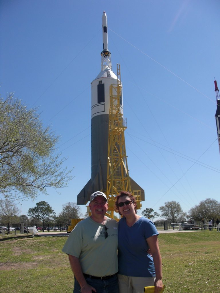 David and Brenda in Front of Rocket