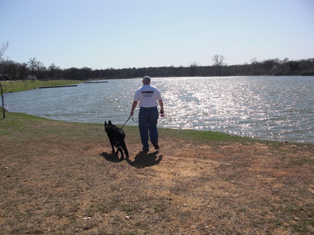 David & Tasha Enjoying the Nice Weather at The Vineyards Campground in Grapevine, TX.