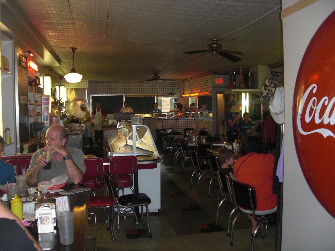 Inside The South Side Diner in Goshen, Indiana