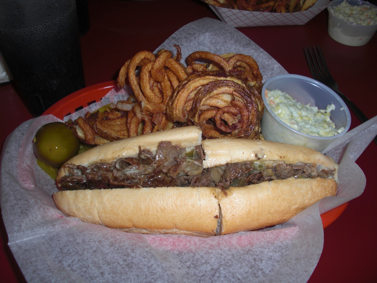 Philly Cheese Steak at the South Side Diner in Goshen, Indiana
