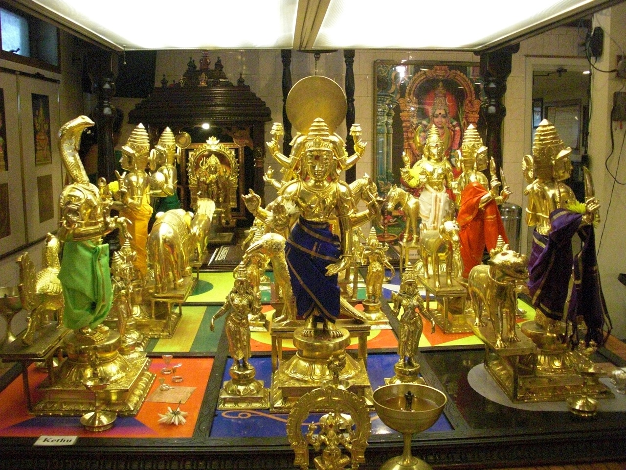 These Are The Statues Of The Gods Of The Planets, Inside The Temple