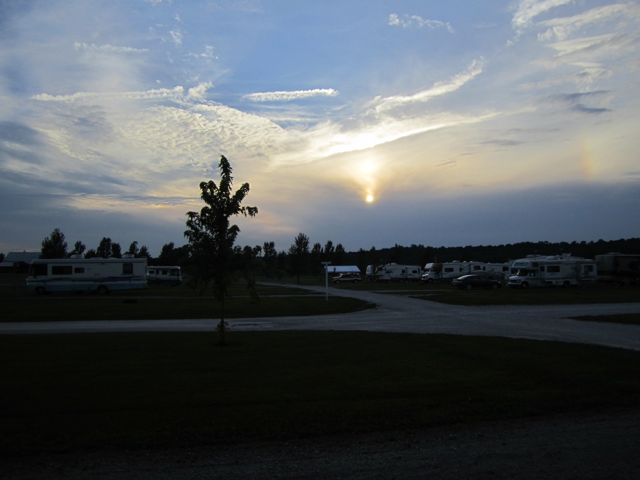 An Iowa Evening At The Amana RV Park In Amana, Iowa.
