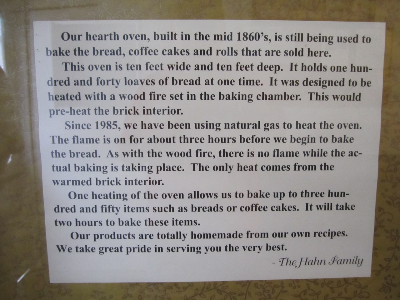 A Little History Of Hahn's Bakery.