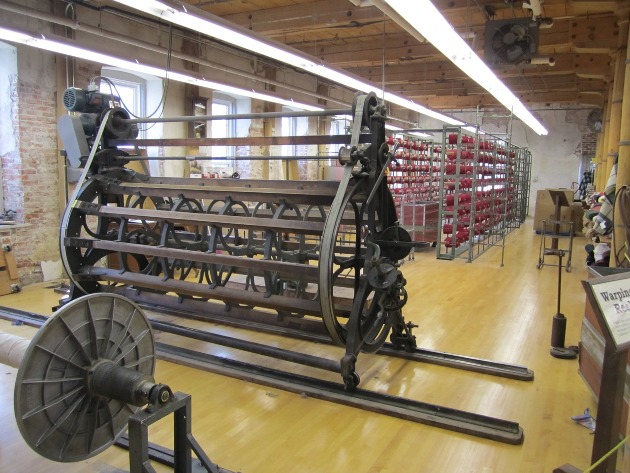 Inside The Amana Woolen Mill. Over 280 Bobbins Of Yarn Feed Into The Loom.