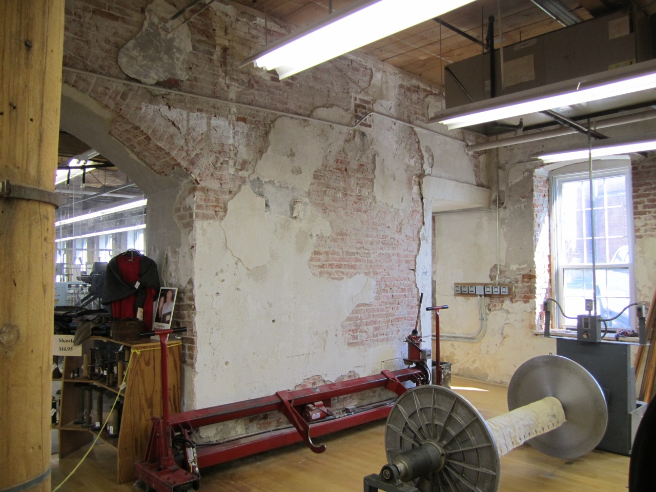 Inside The Amana Woolen Mill.  If These Walls Could Talk.