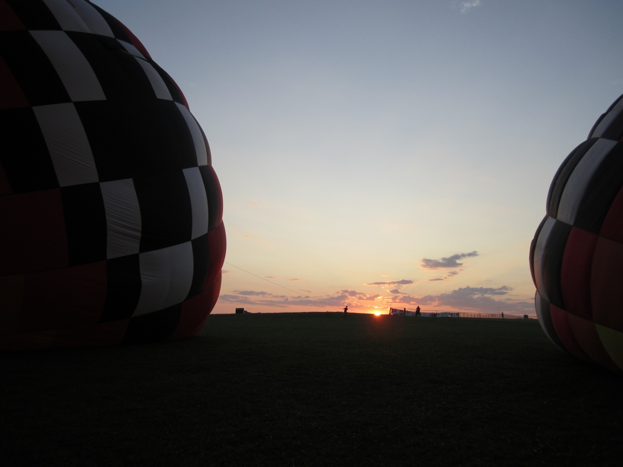 Inflating The Balloons For The Morning Rides