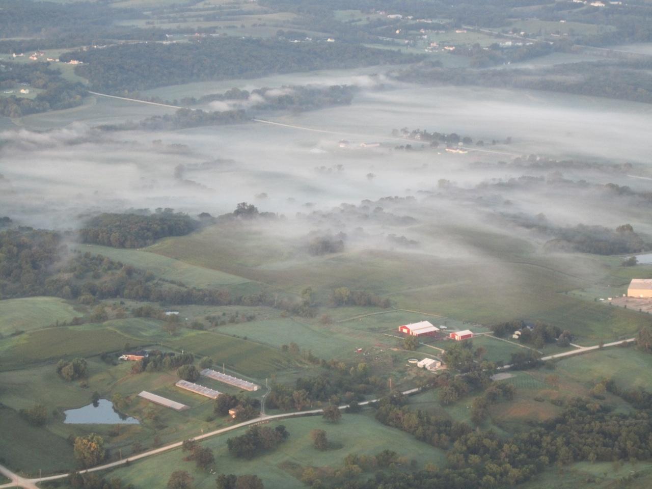 Mist Burning Off The Iowa Fields
