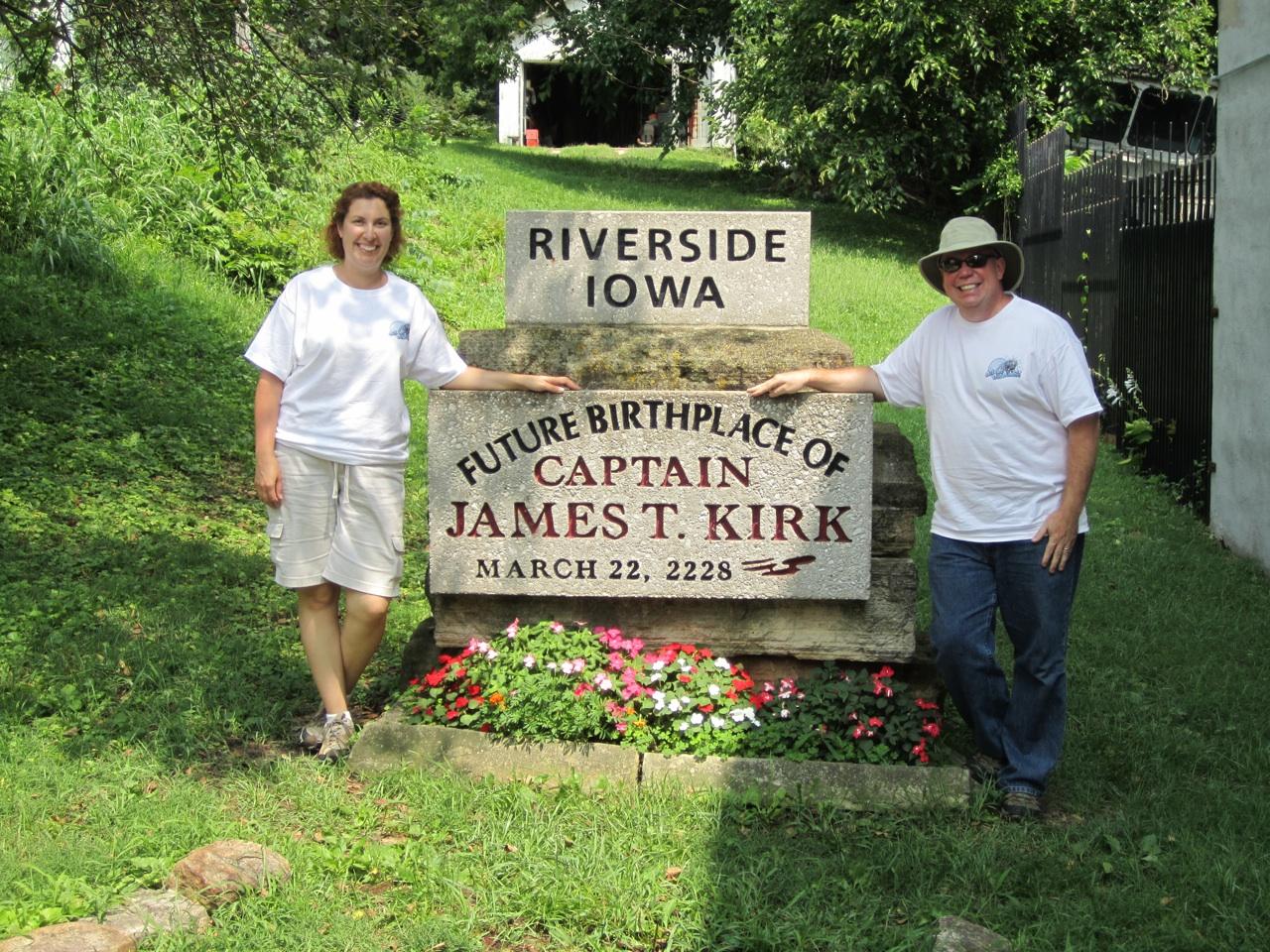 "David & Brenda At The ""Future Birthplace Of Captain James T. Kirk"" Memorial"