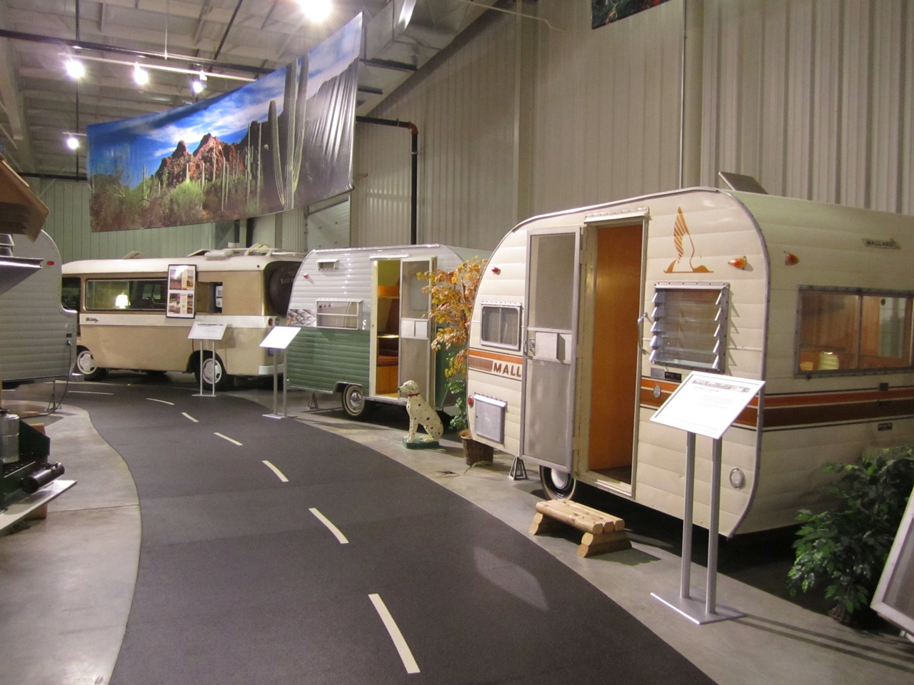 Inside The RV/MH Museum.