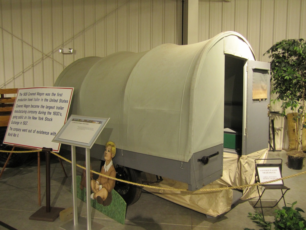 1929 Covered Wagon. This Was The First Production Travel Trailer Made In The US.  The Company Went Out Of Existence With WWII.