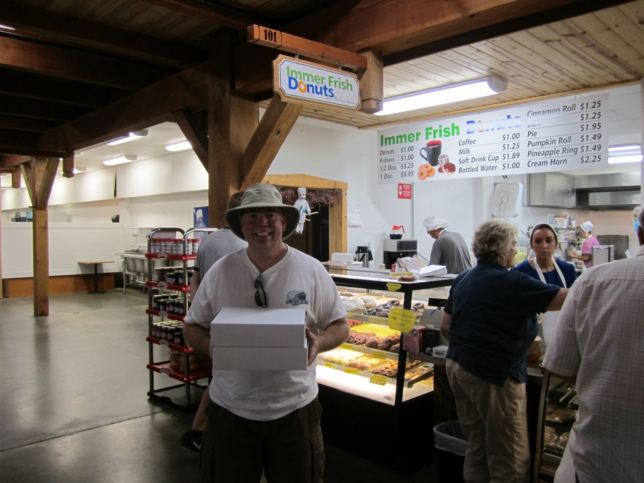David With Immer Frish Donuts
