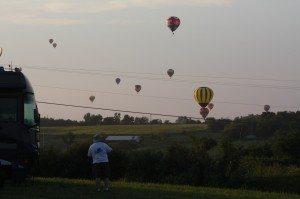 David Admiring The Hot Air Balloons