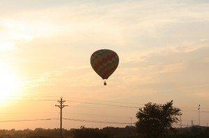 Balloon In The Glow Of The Sun Setting