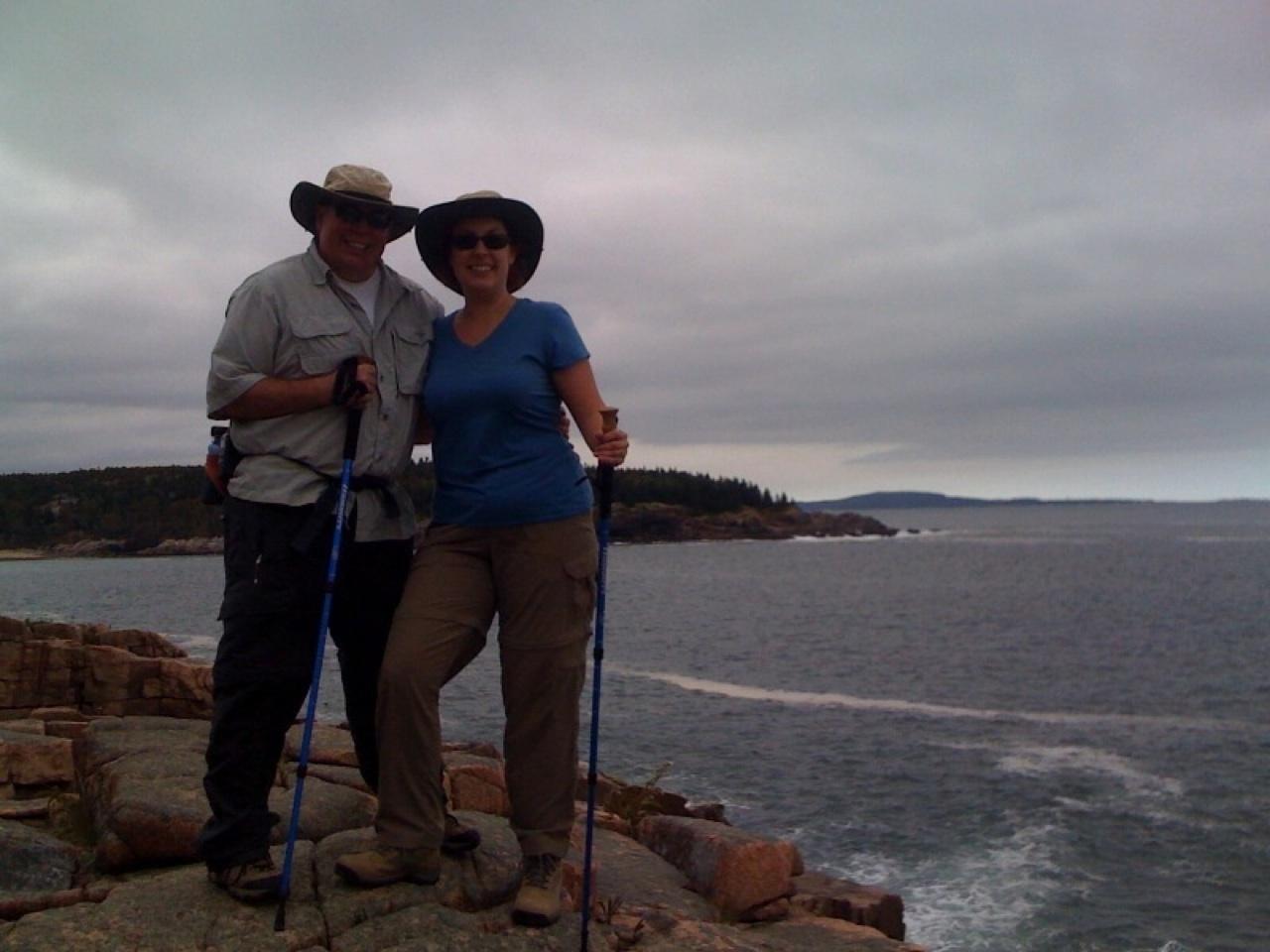 David & Brenda in Acadia National Park