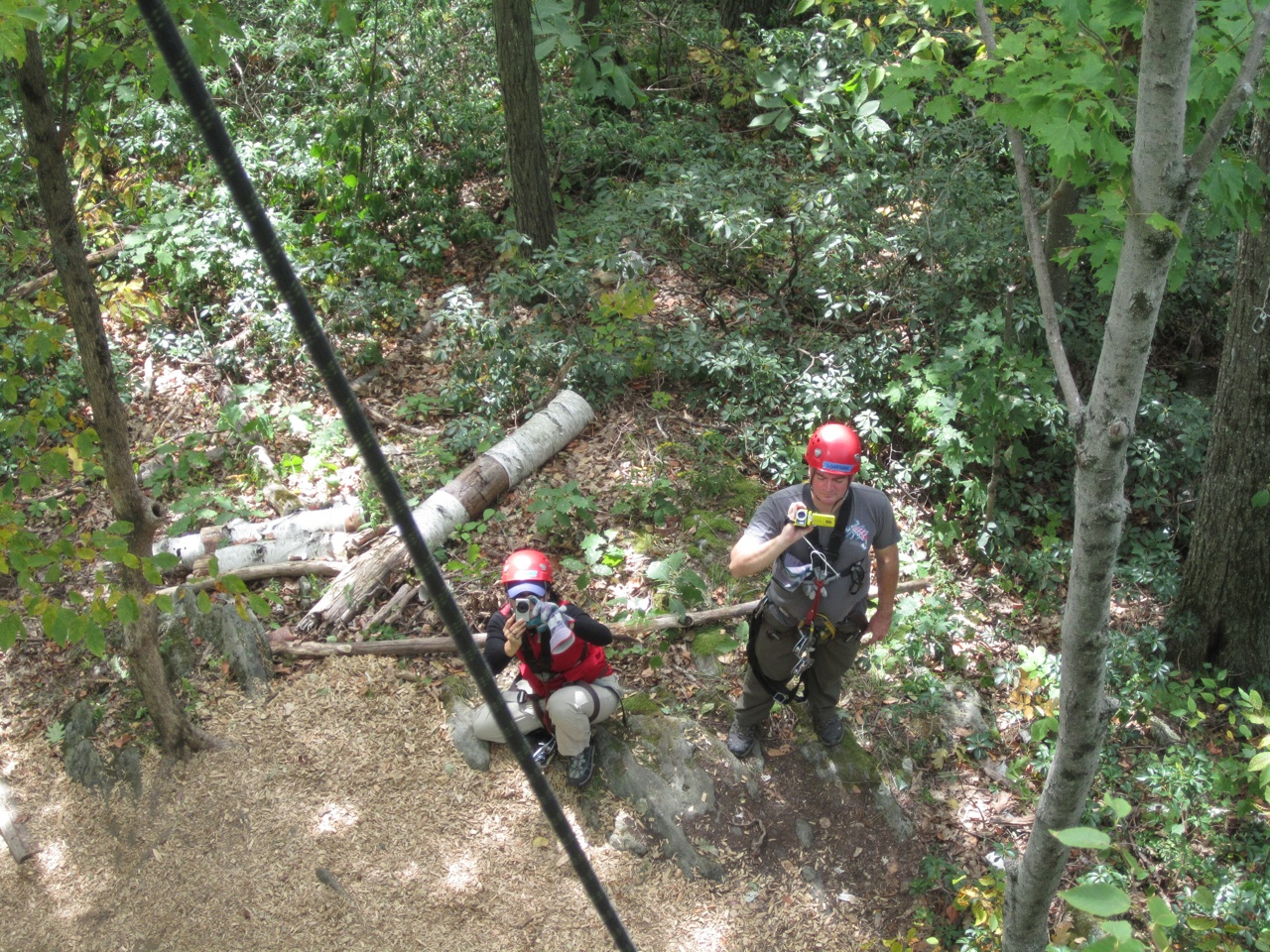 Jonathan & Dasy Shooting Video and Taking Pictures Of Us Rappeling