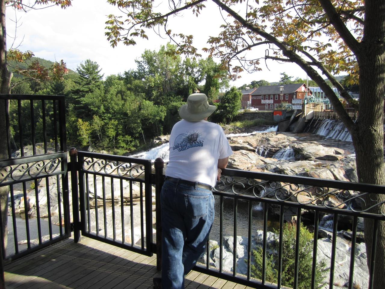 David Enjoying The Peacefulness Of Shelburne Falls, Massachusetts
