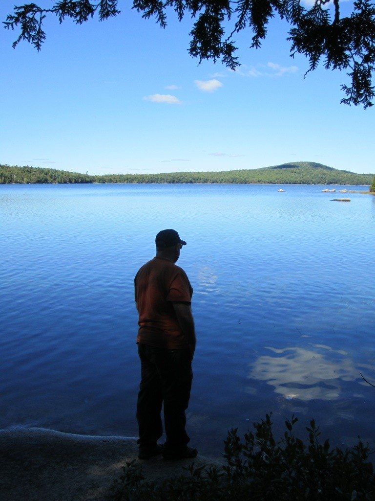 David Looking Out Over Eagle Lake
