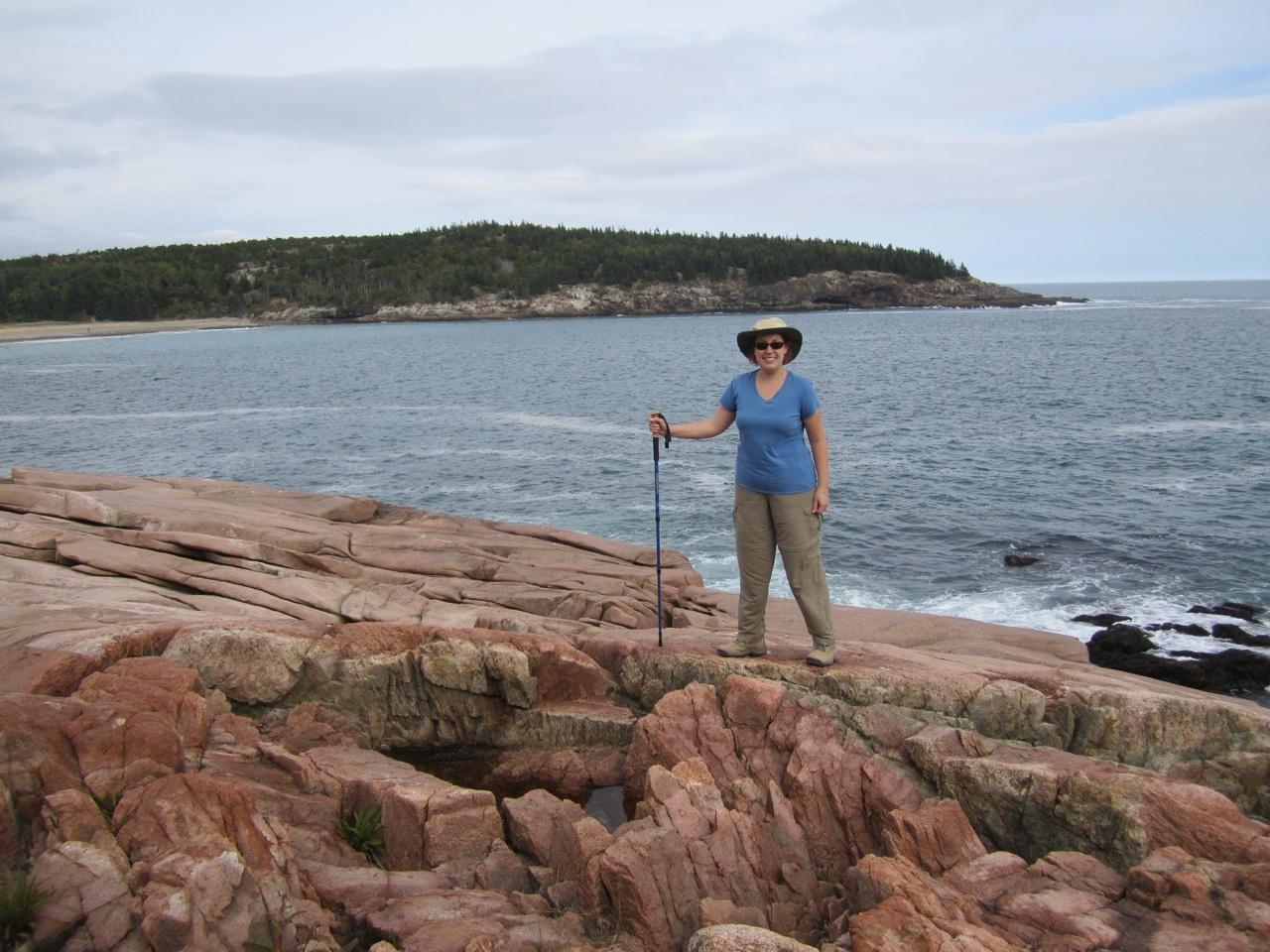 Brenda On Hike In Acadia National Park