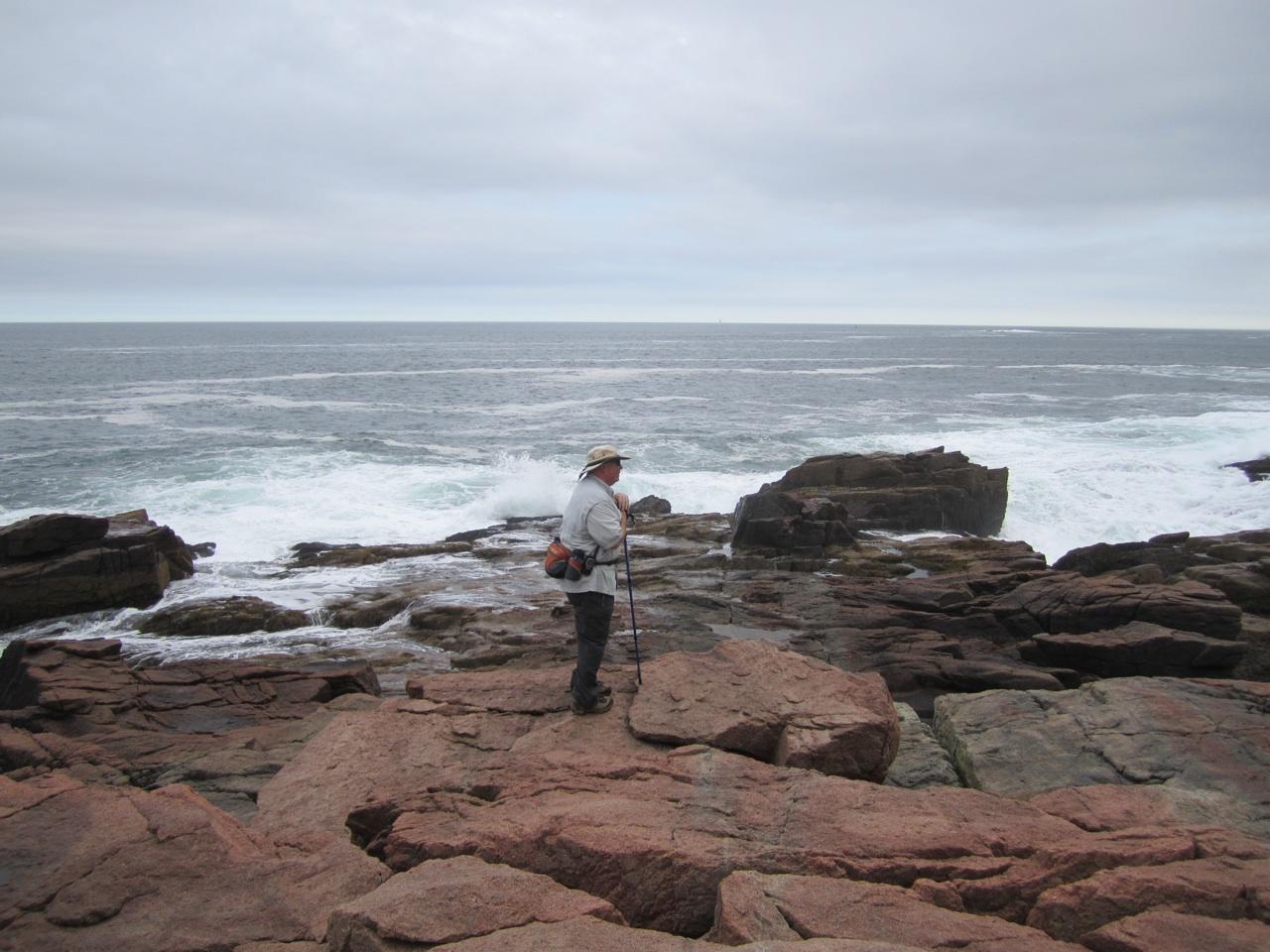 David Hiking On Boulders