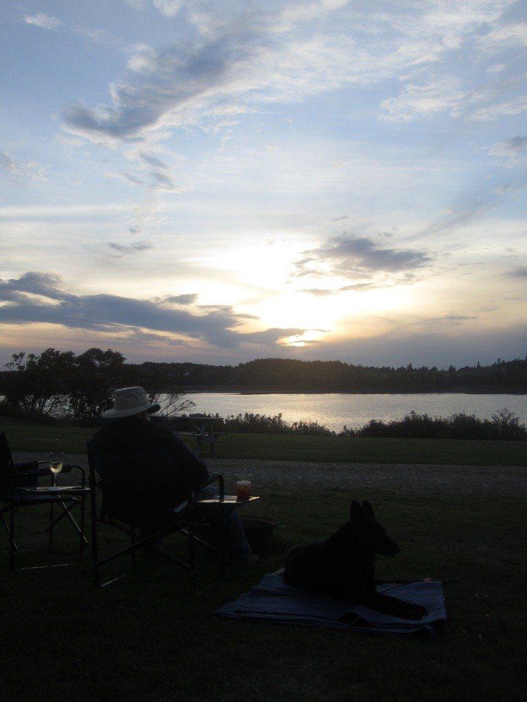 David & Tasha Enjoying A Peaceful Evening At The Campground.