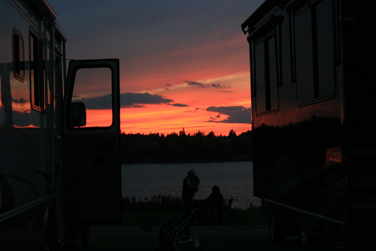 Sun Set At Sunset Point Campground. Thank You WeGoFar.com For The PIcture.