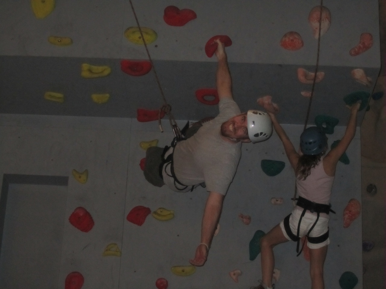 Our Nephew Matt Making Rock Climbing Look Easy. Yes, This Was Onboard The Ship.