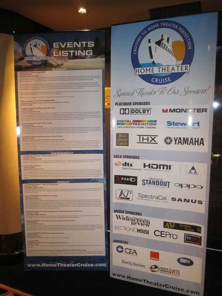 Our Event and Sponsor Banners Outside The Conference Room Doors