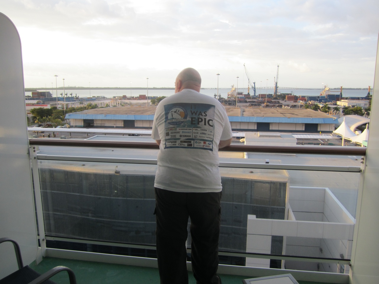 It Was Epic!  David Watching Us Come Back Into The Miami Port.
