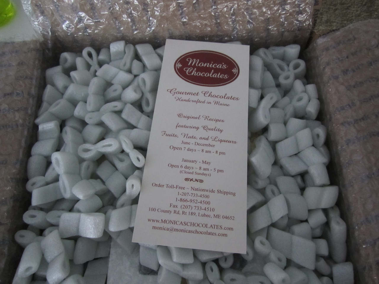 Monica's Chocolate's Arrived Today!