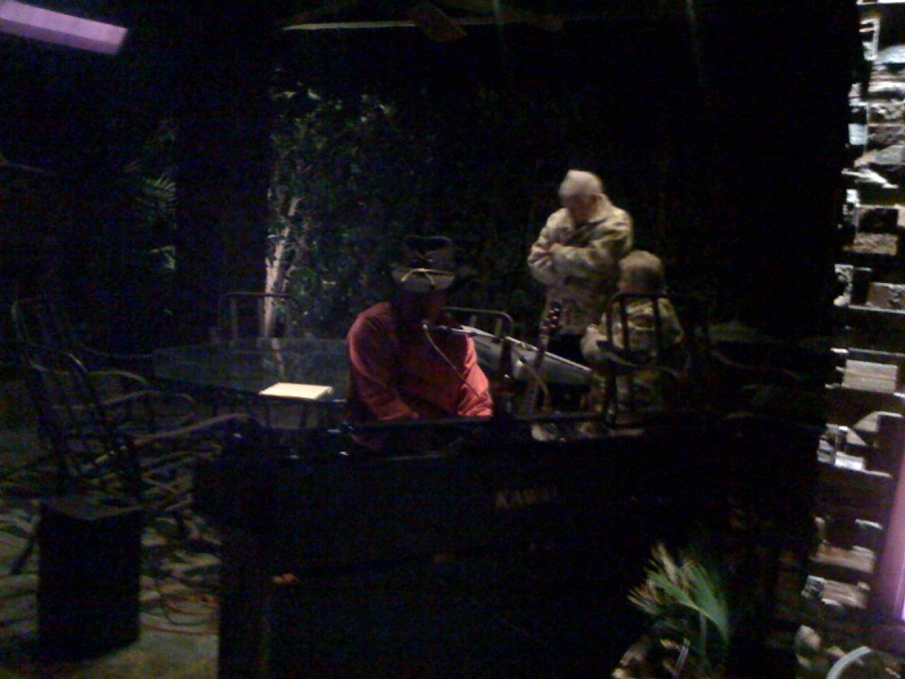 Bobby Freeman Performing On The Patio Outside His MH