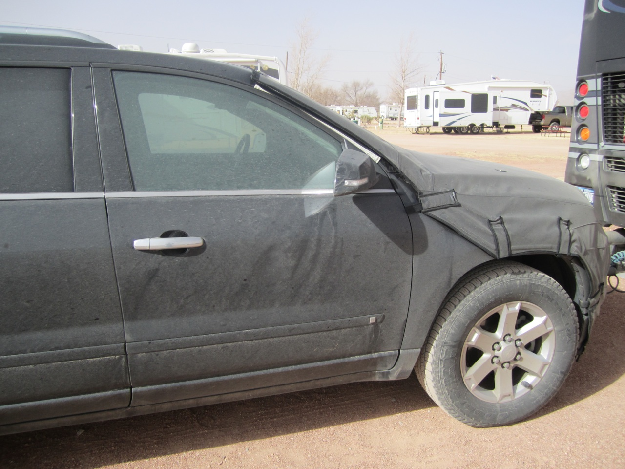 Our Poor Car Caked In Dirt and Dust.