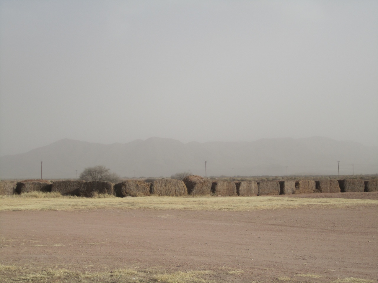 Mountains Starting To Disappear From The Dirt & Dust Flying Around