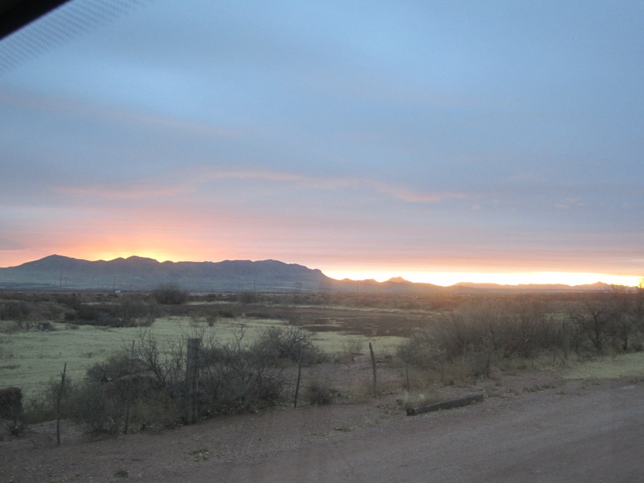 Sun Rise Coming Over The Mountains