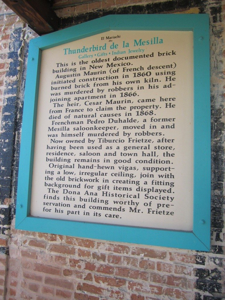 Signage From The Oldest Brick Building In New Mexico