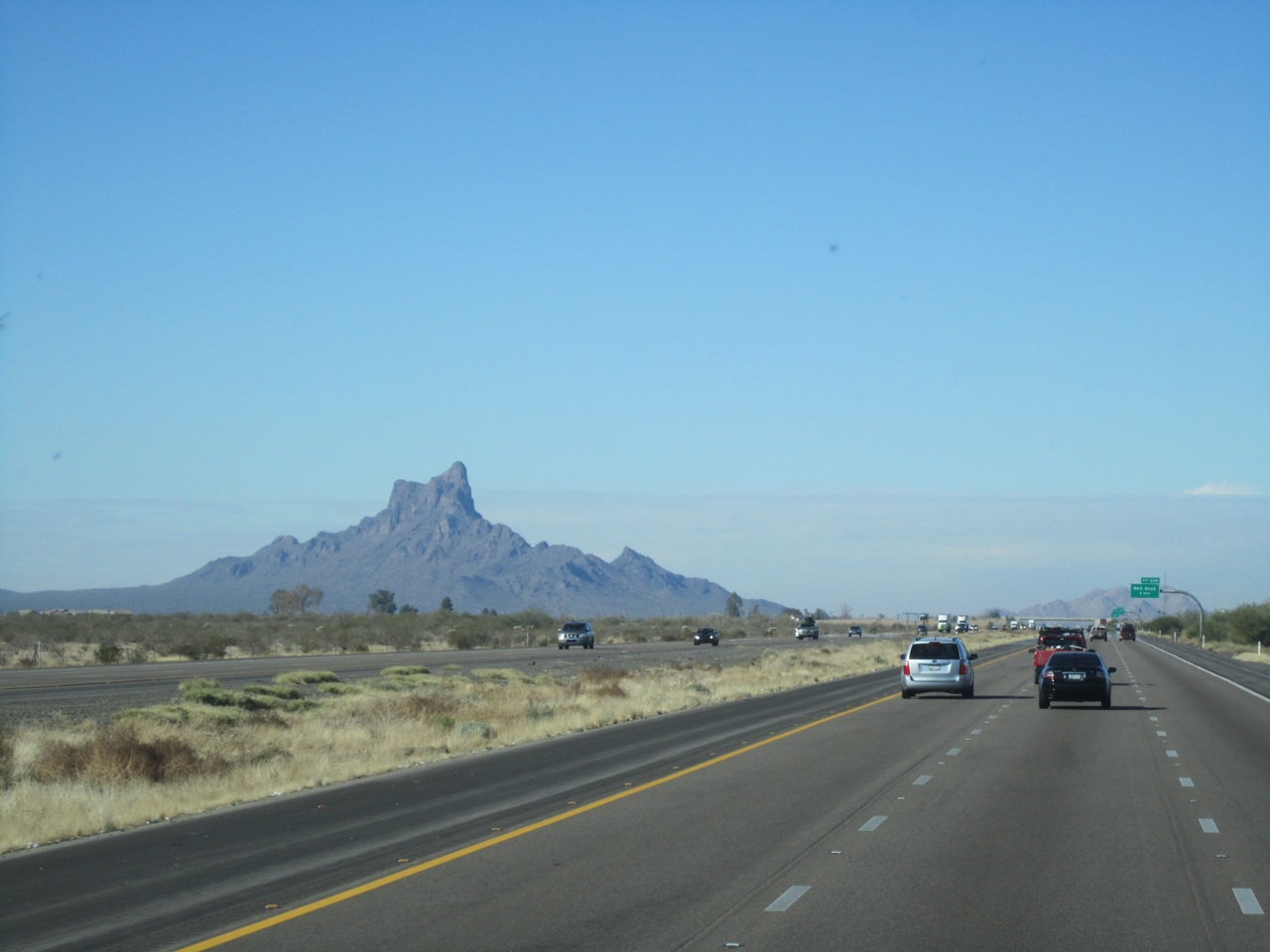 Picacho Peak State Park In Arizona In The Distance