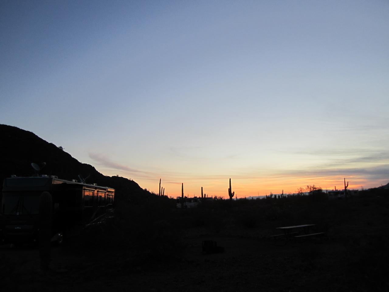 Sunrise At Picacho Peak State Park