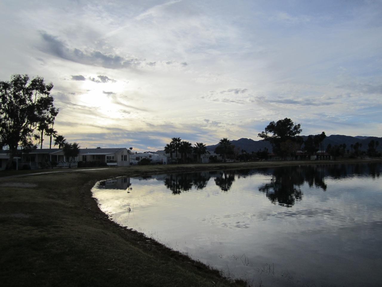 The Beautiful Lake At Tamarisk RV Resort